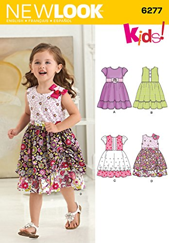 Simplicity Creative Patterns New Look 6277 Toddlers' Dress with Fabric Variations, A (1/2-1-2-3-4)