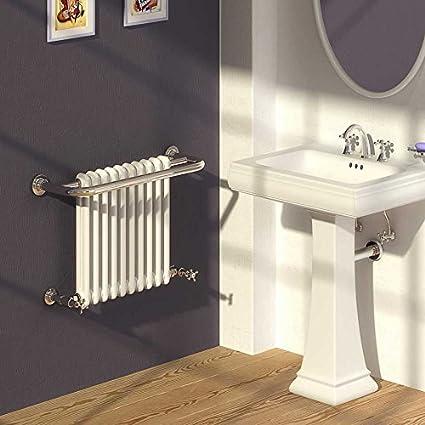 Reina Camden tradicional toallero radiadores, acero, metalizado, 493mm x 625mm Central Heating