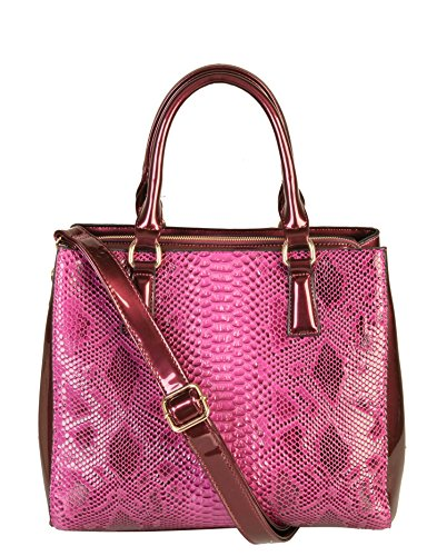 rimen-co-shiny-patent-pu-leather-crocodile-texture-large-tote-womens-purse-handbag-sw-2821-purple