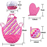 INNOCHEER Kids Cooking Set with Apron and