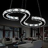 ELINKUME S-type Luxury Modern Crystal LED Pendant, Modern Home Ceiling Light Fixture, Pendant Light Chandelie