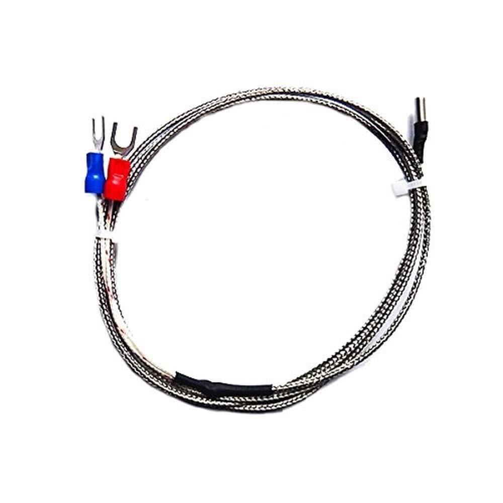 3PCS sensore di temperatura tipo K 1 m cavo 3x10x1000mm 0-600 gradi termocoppia 3D stampante