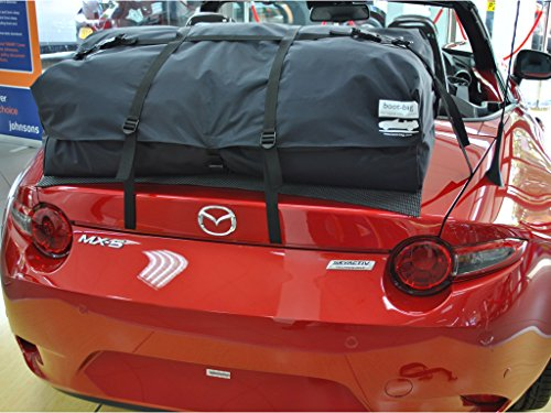 Mazda Miata ND Trunk Rack Luggage Rack : Unique Waterproof Luggage Bag Straps To Trunk Lid. UK Made since 2008 ()