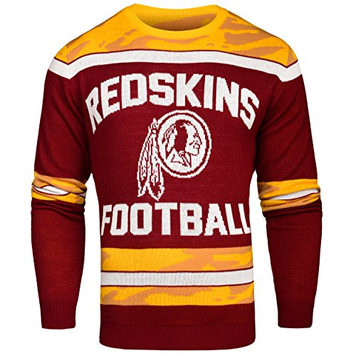 FOCO Washington Redskins Ugly Glow In The Dark Sweater - Mens - Mens Double Extra Large by FOCO