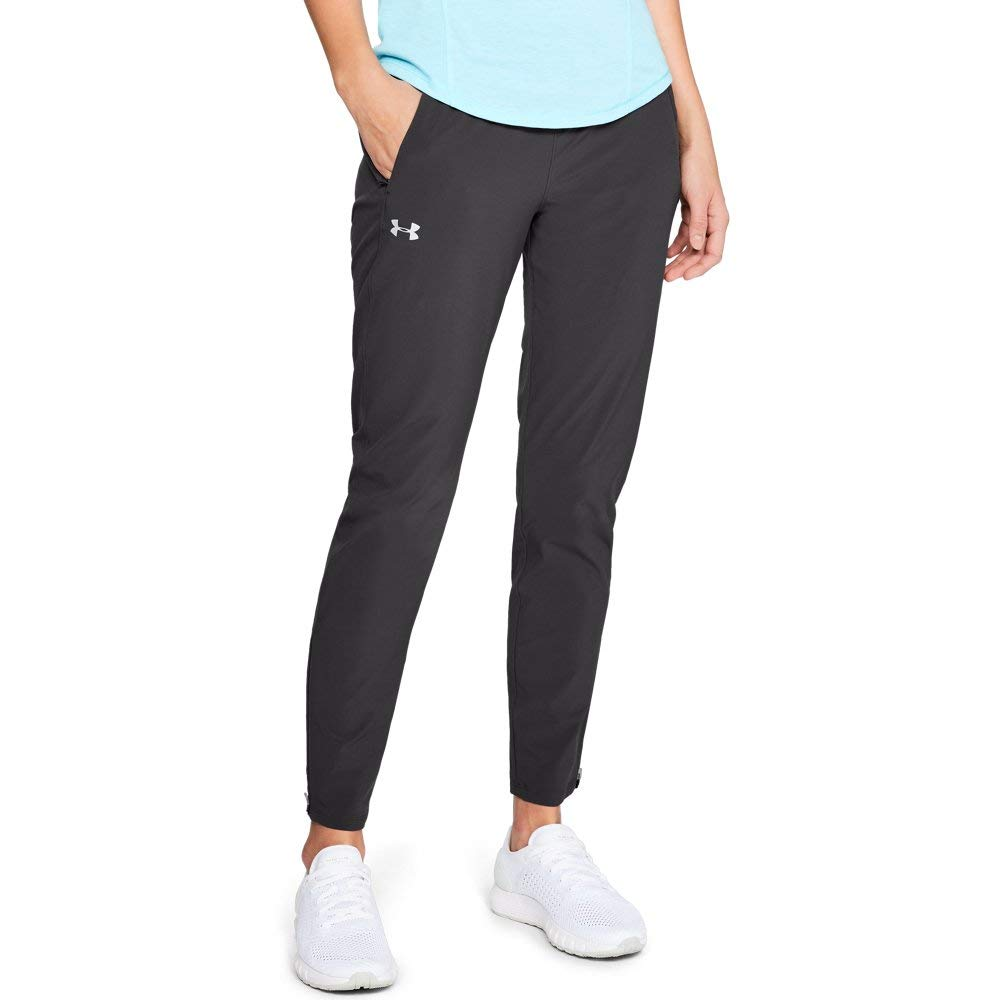 Under Armour Women's OutRun The Storm Pants, Charcoal (019)/Reflective, Large by Under Armour