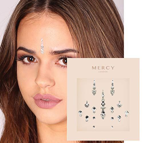 Gigi Silver Bindi ✮ Crystal Indian Bindi Face Jewels Silver Packet