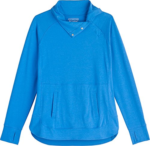 Coolibar UPF 50+ Women's Funnel Neck Top - Sun Protective (3X- Brilliant Blue) by Coolibar (Image #2)