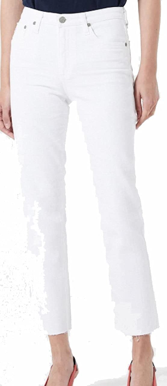 AG Adriano Goldschmied AG Women's Jean The Isabelle 01 Year White Crops Jeans DSD1753RH01YWHT