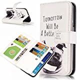 S6 Edge Case, Easytop Samsung Galaxy S6 Edge Wallet Case, Luxury PU Leather Case Magnet Wallet Credit Card Holder Flip Cover Case Built-in 9 Card Slots & Stand Case for Samsung Galaxy S6 Edge (Pug)