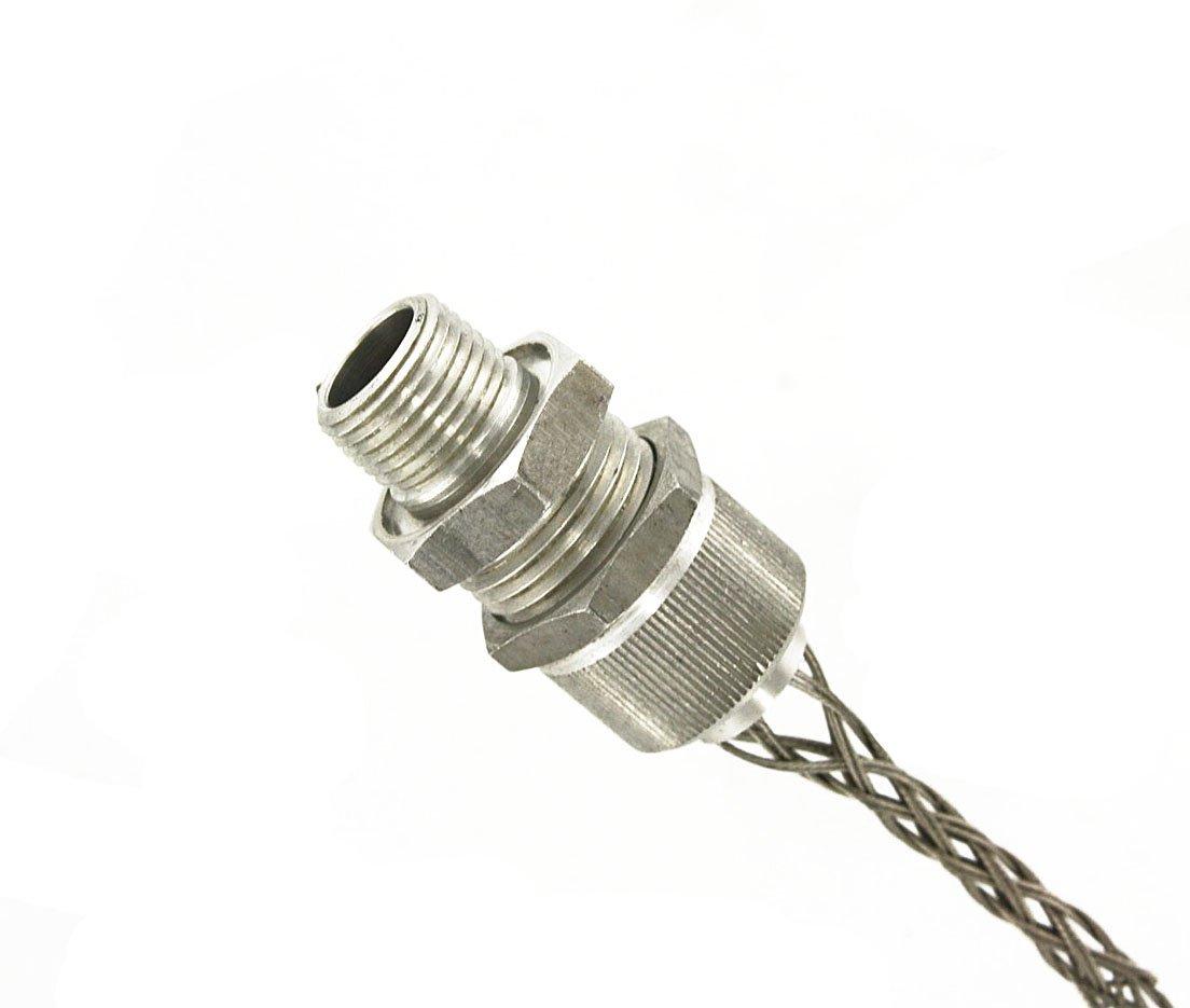 Leviton L7708 1/2-Inch, Straight, Male, Aluminum Body, Deluxe Cord Sealing Strain-Relief, .500, .625 Cord Range