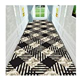 XDFERW Hallway Runner Carpet Rugs Door Mats Corridor Aisle Stair Carpet Dirt Stopper Anti-Slip Washable Hardwearing 3D Printing 6mm (Color : B, Size : 60x200cm)
