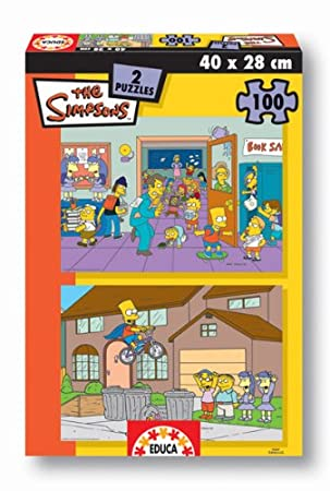 Educa Borrás Puzzle 2x100 The Simpsons Escuhttps://amzn.to/2KvnE63