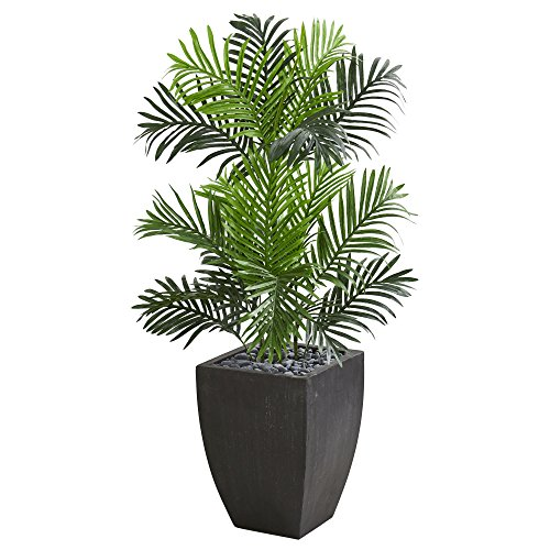 Nearly Natural 5692 Paradise Palm Artificial Black Planter Silk Trees Green