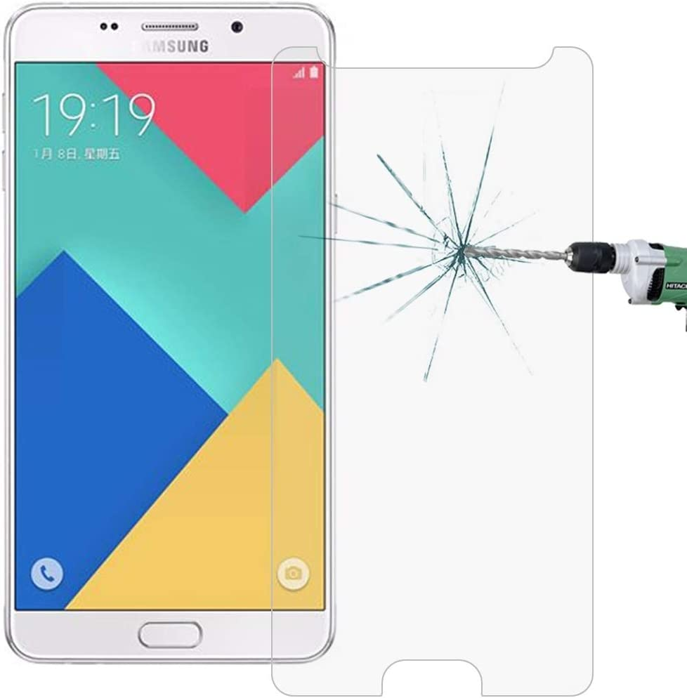 HUFAN 100 PCS for Galaxy A9 A900 0.26mm 9H Surface Hardness 2.5D Explosion-Proof Tempered Glass Screen Film Phone Glass Film