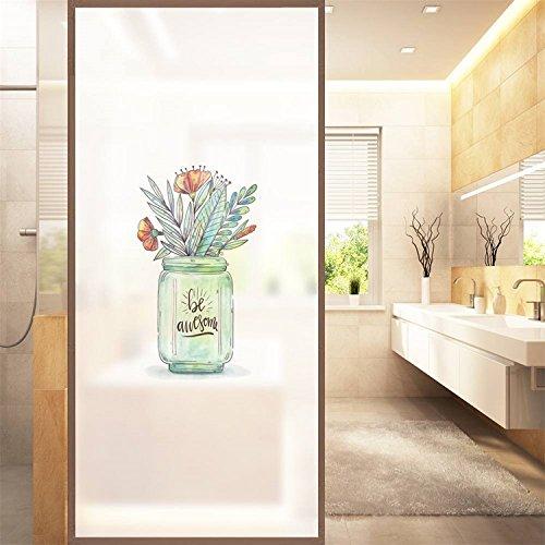 Cheap  AmazingWall Privacy Window Film Be Awsome Plants Decorative Decals Bathroom Office Non..
