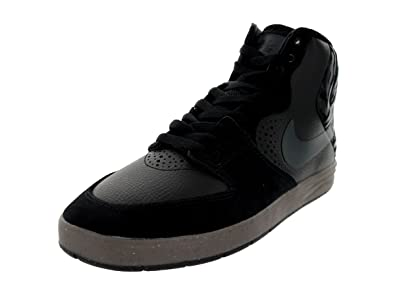 Nike Men's Paul Rodriguez 7 High Black/Anthracite/Gm Dark Brown Skate Shoe  7.5