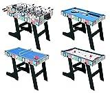 HLC 121.5*61*81.3 CM Klappbar 4 in 1 multifunkniertes Tischspiel -- Tischkiker(Tischfußball)/Tischtennis /Air Hockey /Billard-Tisch