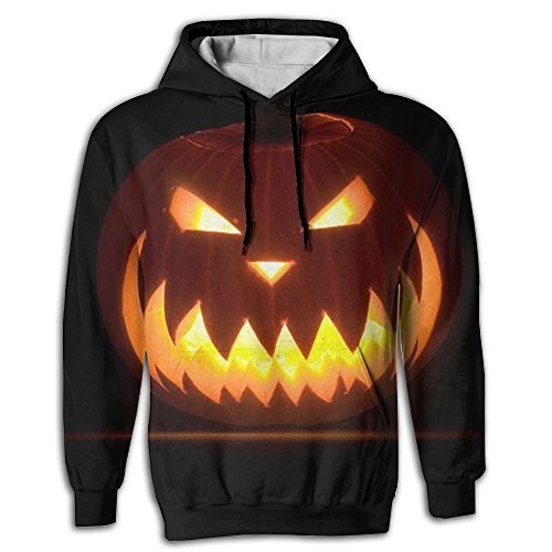 Cooly9a Halloween Pumpkin Cute Men's Novelty Fashion Pullover Hoodie Hooded Sweatshirt
