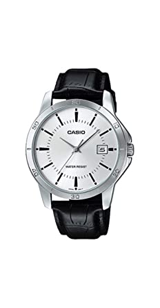 db7f03b74 Image Unavailable. Image not available for. Color: Casio MTP-V004L-7A Men's  Standard Analog Stainless Steel Date Silver Dial Watch