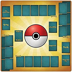 2 Player Pokemon Trainer Playmat - 24 X 24 inch