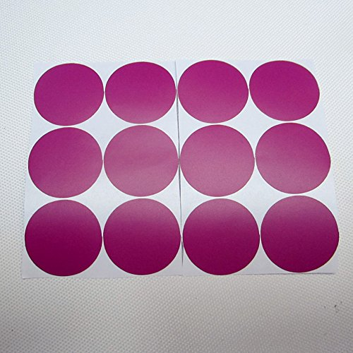 QZT 24Pcs Rainbow Multi Color Size Confetti Polka Dots Circles Vinyl Decals Wall Stickers For Home Decor,M2S1 11 magenta 25mm by QZT