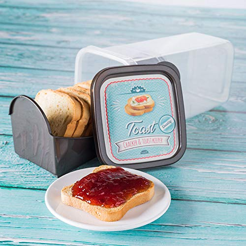 Cracker and Toast Keeper Reusable with Airtight ()