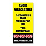 Avoid Foreclosure Custom Phone Business DECAL STICKER Retail Store Sign - 4.5 x 12 inches