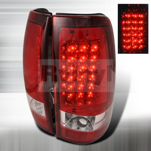 Lamps Chevy - Spec-D Tuning LT-SIV03RLED-TM Chevy Silverado Red LED Tail Lights Lamps