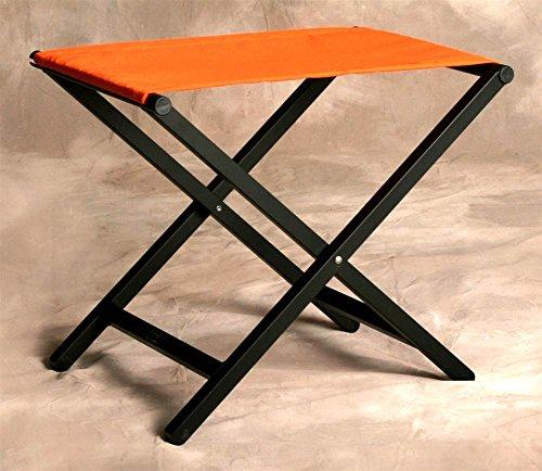 (Sutton Bridge Small Aluminum Director Style Folding Footstool in Orange)