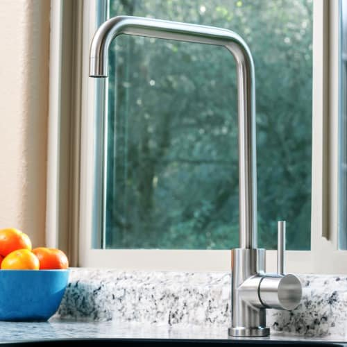 Miseno MK004 Kitchen / Prep Faucet (Solid T304 Stainless Steel), Brushed Stainless by Miseno (Image #2)