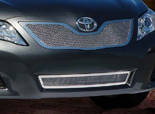 Fine Mesh Grille Set (2010 Toyota Camry Base/LE/XLE E&G Classics® Stainless Steel 2 Pc Fine Mesh Grille Set (Main &)
