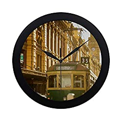 ZXWXNLA Modern Silent Sweep Non-Ticking Wall Clock QuartzClock Quiet Sweep Movement for Women Couple for Office Bathroom Bedroom Decorative 9.65 Inch