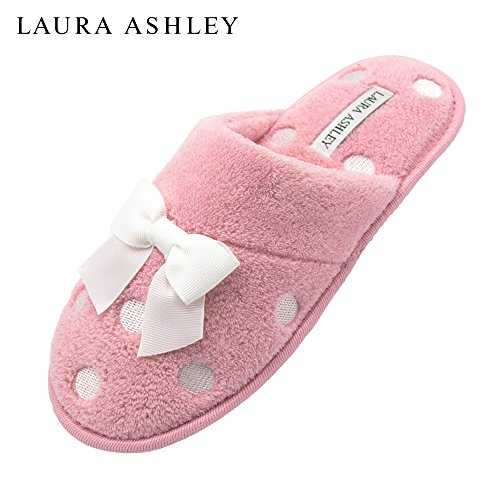 Terry Soft Slipper Pink Embroidered Scuff Ashley Laura Pastel Ladies aHIwFqw