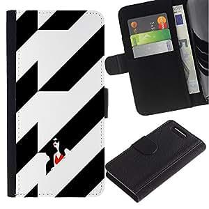 Stuss Case / Funda Carcasa PU de Cuero - Negro Mujer elegante edificio - Sony Xperia Z3 Compact