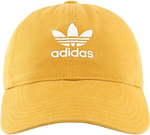 adidas Women's Originals Relaxed Adjustable Strapback Cap, Tactile Yellow/White, One Size