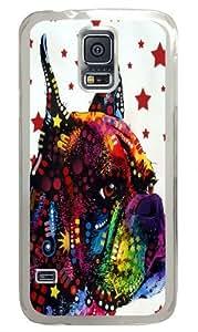 boxer love Custom Samsung Galaxy S5/Samsung S5 Case Cover Polycarbonate Transparent