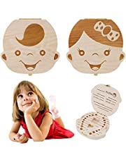 Baby Tooth Box, Kids Milk Teeth Organizer Save Wood Storage Box for Baby Boy&Girl,Special for Kids Keepsake