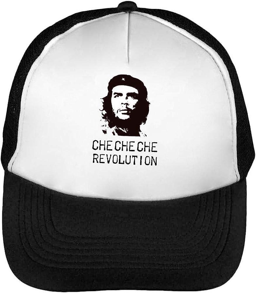 Che Guevara Revolution Black Monochrome Gorras Hombre Snapback ...