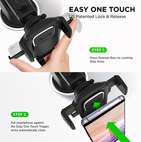 iOttie Easy One Touch 4 Dash amp Windshield Car Mount Phone Holder  iPhone Xs Max R 8 Plus 7 Samsung Galaxy S10 E S9 S8 Plus Edge Note 9 amp Other Smartphones