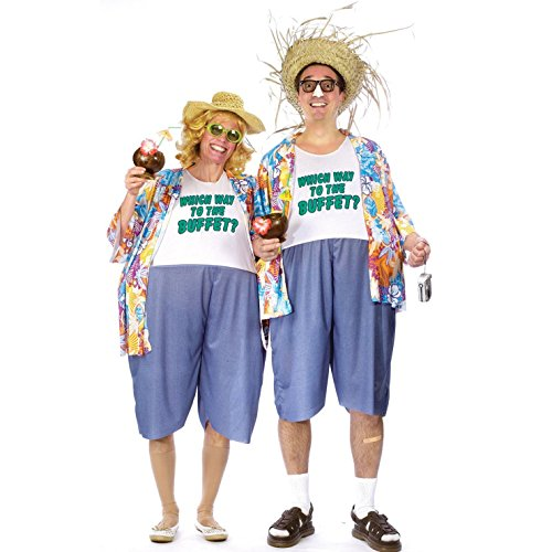 Couple Costumes (Tacky Traveler Costume - Standard - Chest Size 33-45)