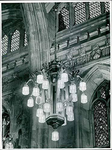 Vintage photo of Guildhall, London:One of the eight special lighting.