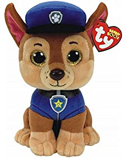 TY Licensed Beanie - Paw Patrol - CHASE , Perfect Plush!