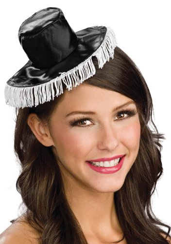 [Mini Black and White Spanish Hat - Adult Std.] (Mini Black And White Spanish Hat)