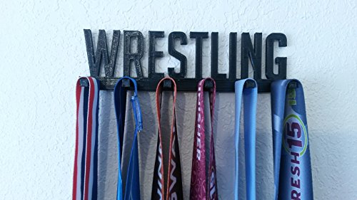 Wrestling Sports Medal Display Medal Rack Medal Holder Medal Hanger by Medallurgy