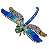 "Dragonfly Figurine Trinket Set w/ Swarovski Crystals! 4.5"" Blue Green"