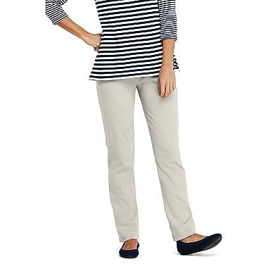 8e58cb54faef Lands' End Women's Petite Sport Knit Elastic Waist Pants High Rise, XS,  Light