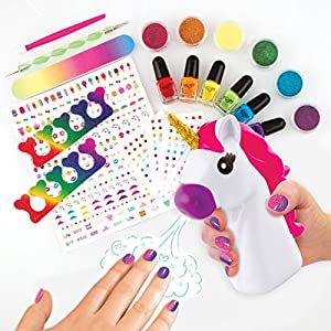 Fashion Angels 12180 Unicorn Dreams Nail Design Super Set Toy (Over 650 Piece), Assorted, Pack of 1
