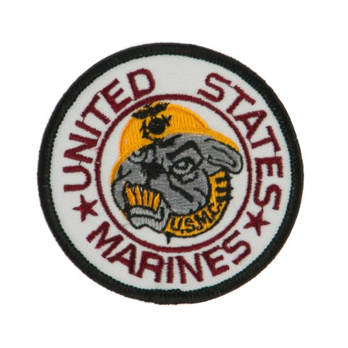 - Marine Circular Embroidered Military Patch - Bull Dogs OSFM