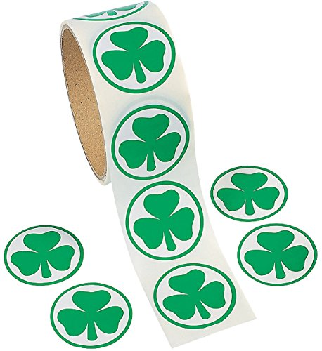 Fun Express Shamrock Stickers Piece
