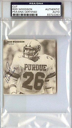 Rod Woodson Authentic Autographed Signed 3x3 Cut Signature #83722363 PSA/DNA Certified NFL Cut Signatures